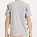 Knowledge Cotton Apparel | T-shirt Alder Col V - Grey Melange