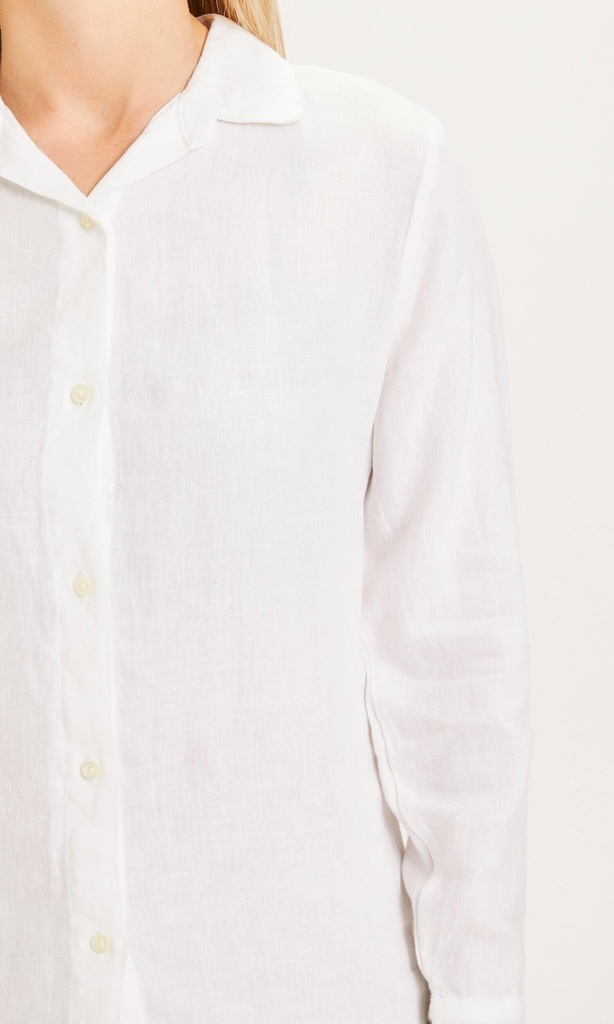 Knowledge Cotton Apparel | Chemise Sage - Bright White