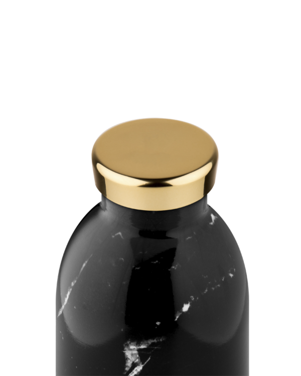 24 BOTTLES | Thermos Inox Clima Isotherme 330ml - Black Marble