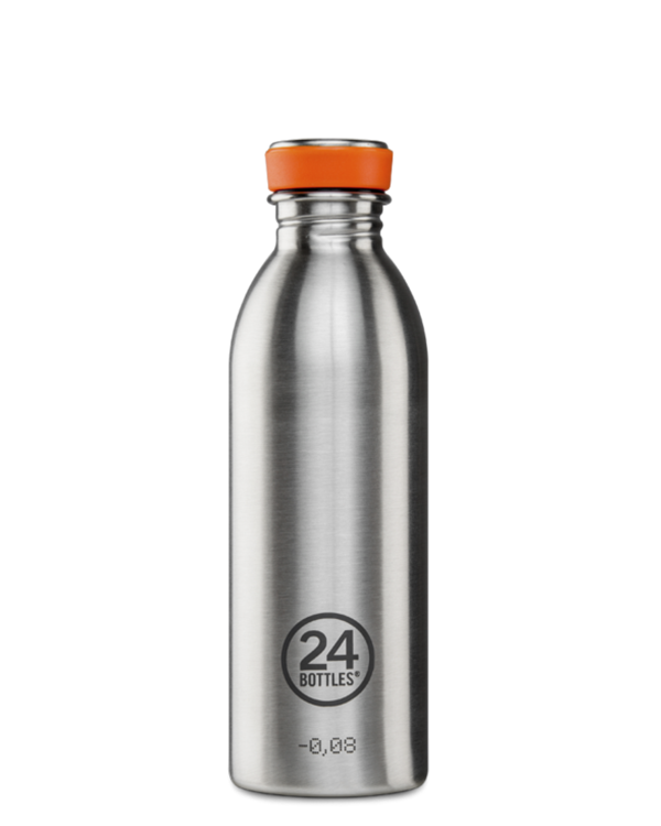 [24B-Steel Life 055] 24 bottles | Gourde Inox Urban 500ml - Steel