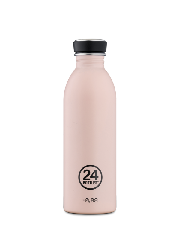 [24B-237] 24 Bottles | Gourde Inox Urban 500ml - Stone Dusty Pink