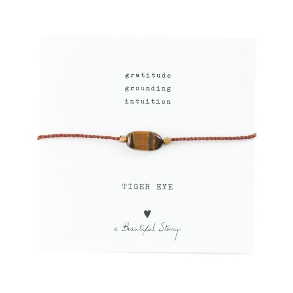 [ABS-BL23374] A Beautiful Story | Bracelet Gemstone - Tiger Eye Gold