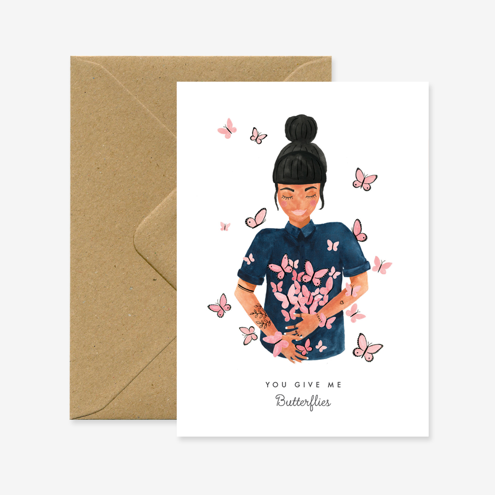 [AWS-1119] ALL THE WAYS TO SAY | Carte A6 + Enveloppe - Butterflies