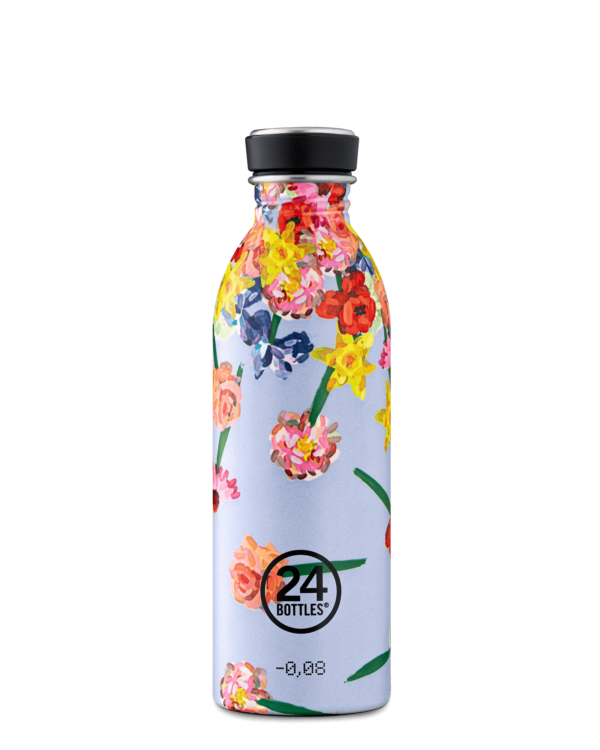 [24B-626] 24 Bottles | Gourde Inox Urban 500ml - Flowerfall